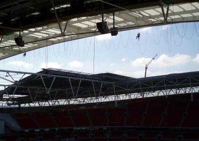 High Level Coating At Wembley Stadium