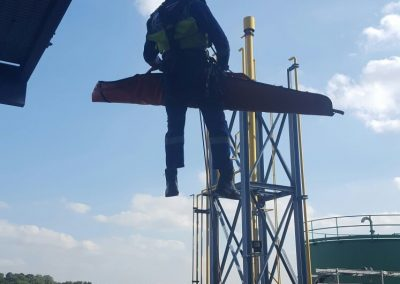 Emergency rescue and safety cover demonstration at Castleford Power Station