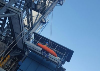 Working at height rescue demonstration at Castleford power station