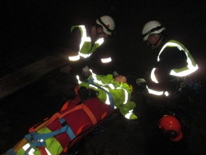 Horizontal confined space rescue