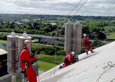 Power generation rope access maintenance