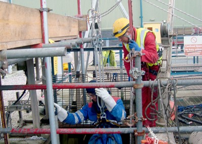 Power station confined space safety cover