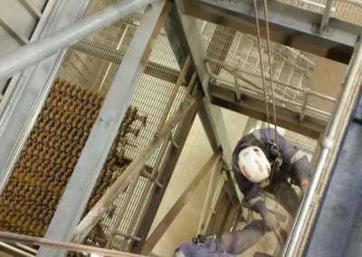Top to bottom deep clean of biomass unit steelwork