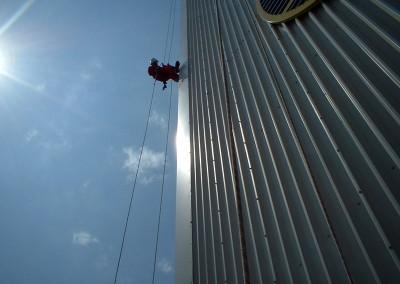 Rope access cladding maintenance