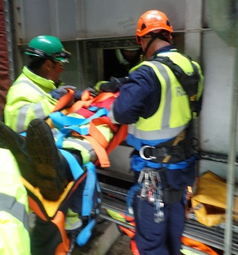 IP stretchered to safety