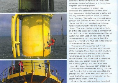 Published article on Abfad's work at Scroby Sands offshore wind farm
