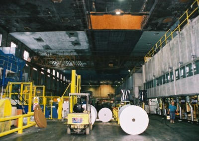 All working areas were sealed to prevent debris spillage and interruption to the mill