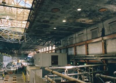 Mill ceiling before refurbishment began