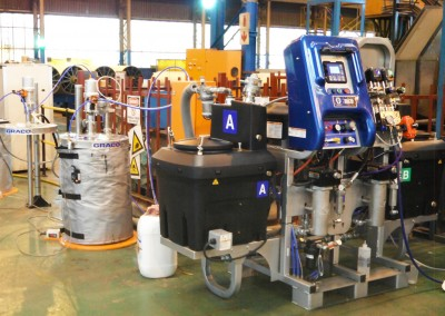 Speacialist plural component heated spray pump