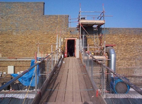 Kemsley paper mill major refurbishment to 24 hour paper for Removing concrete walkway