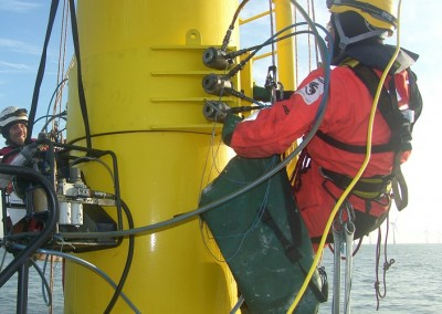 Tightening of clamp bolts with Hydratight Hydraulic equipment