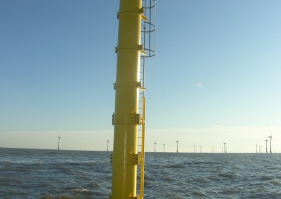 Scroby Sands met mast after refurbishment work completed