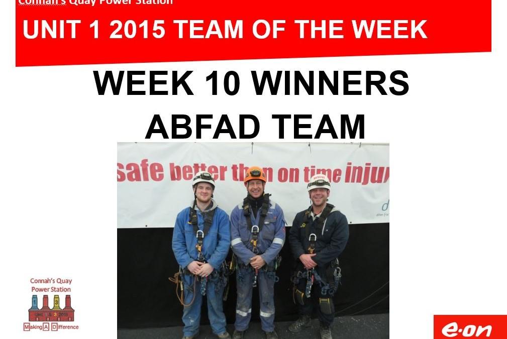 Abfad Team of the Week!
