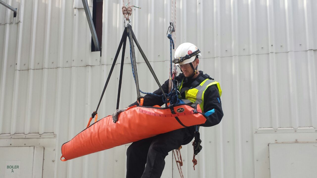 Working at height rope rescue