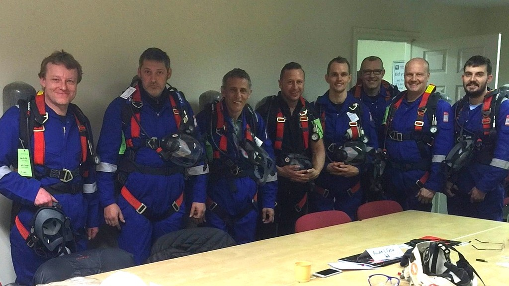 confined space training team photo