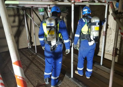 Confined space rescue team