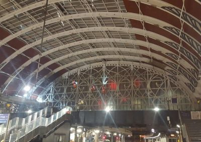 High rise cleaning and coating at Paddington Train Station