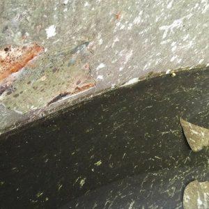 Corrosion and coating delamination inside of storage tank
