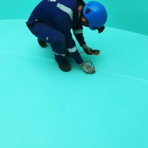 Paint thickness checks to completed solvent free coating