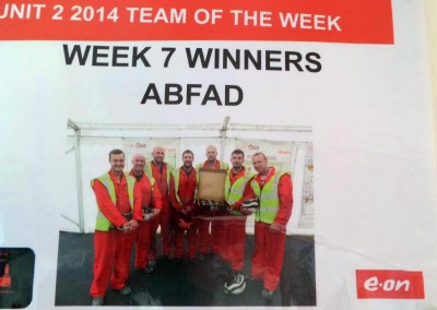 ABFAD awarded team of the week
