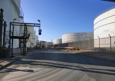 Above ground storage tanks at Seal Sands