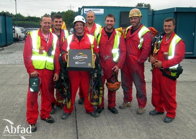 Abfad safety cover rescue team