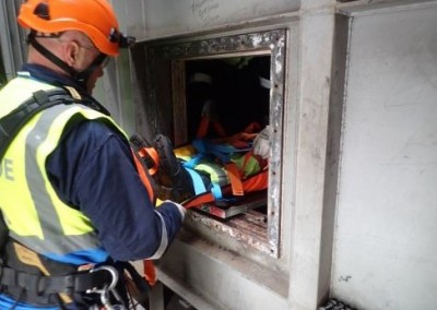 Removal from confined space