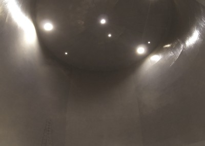 Inside of HCL tank after double skin installation