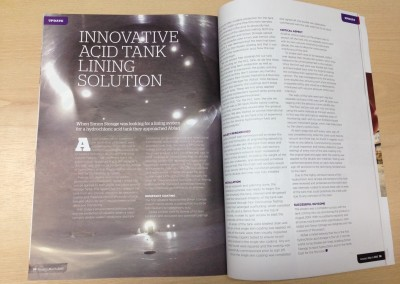 HCL tank project featured in PCE International Magazine