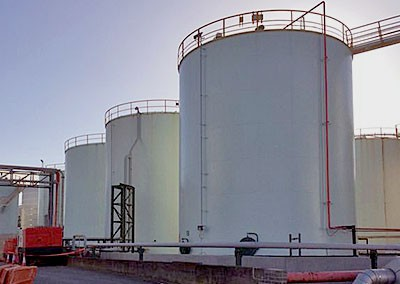 Above ground tank storing over 2 million litres of HCL