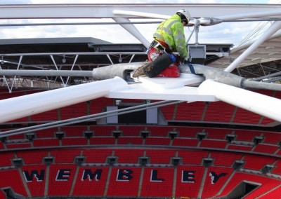 High level welding at Wembley Stadium