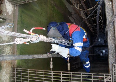 Rope access welding
