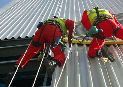 Rope access power generation maintenance and repair