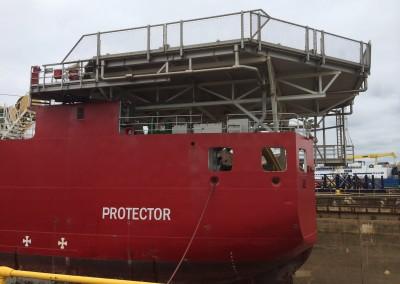 HMS Protector - Helideck