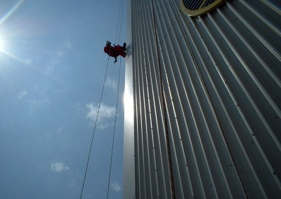 Rope access cladding maintenance
