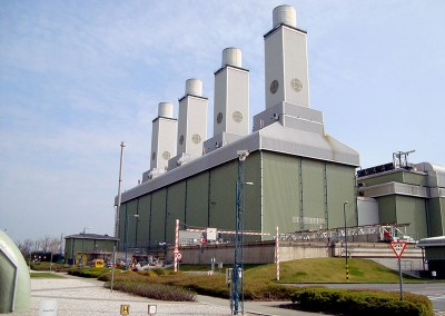 Power station shut down work