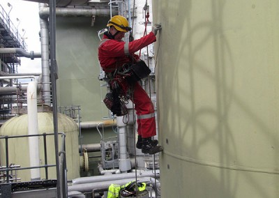 Power generation NDT inspection by rope access