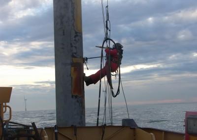 Blasting Met Mast offshore