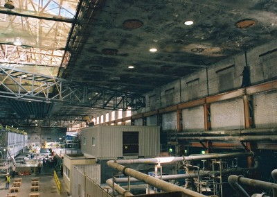 Mill ceiling before refurbishment began