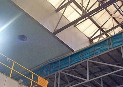 Refurbished concrete ceiling and WARD insulation panels