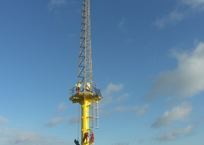 Final inspection and commissioning checks at Scroby Sands met mast