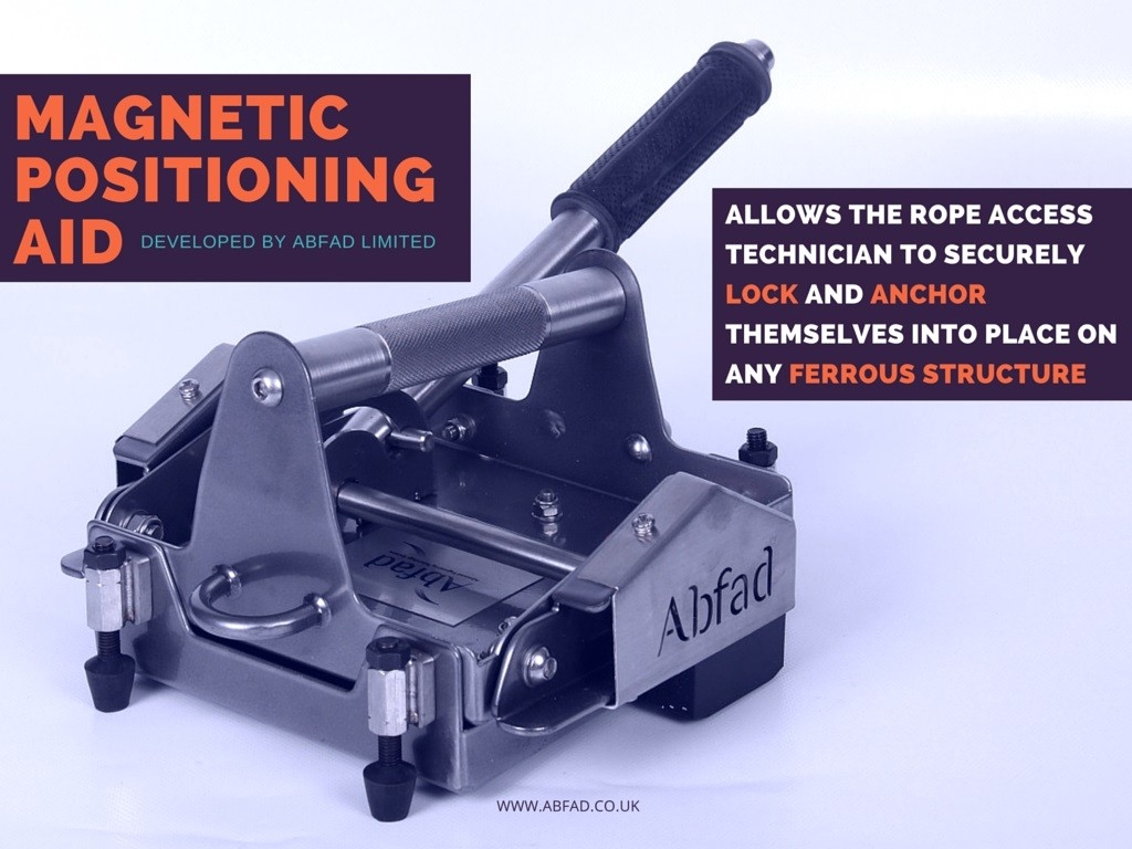 Abfad's Magnetic Positioning Aid allows the rope technician to lock onto any ferrous structure