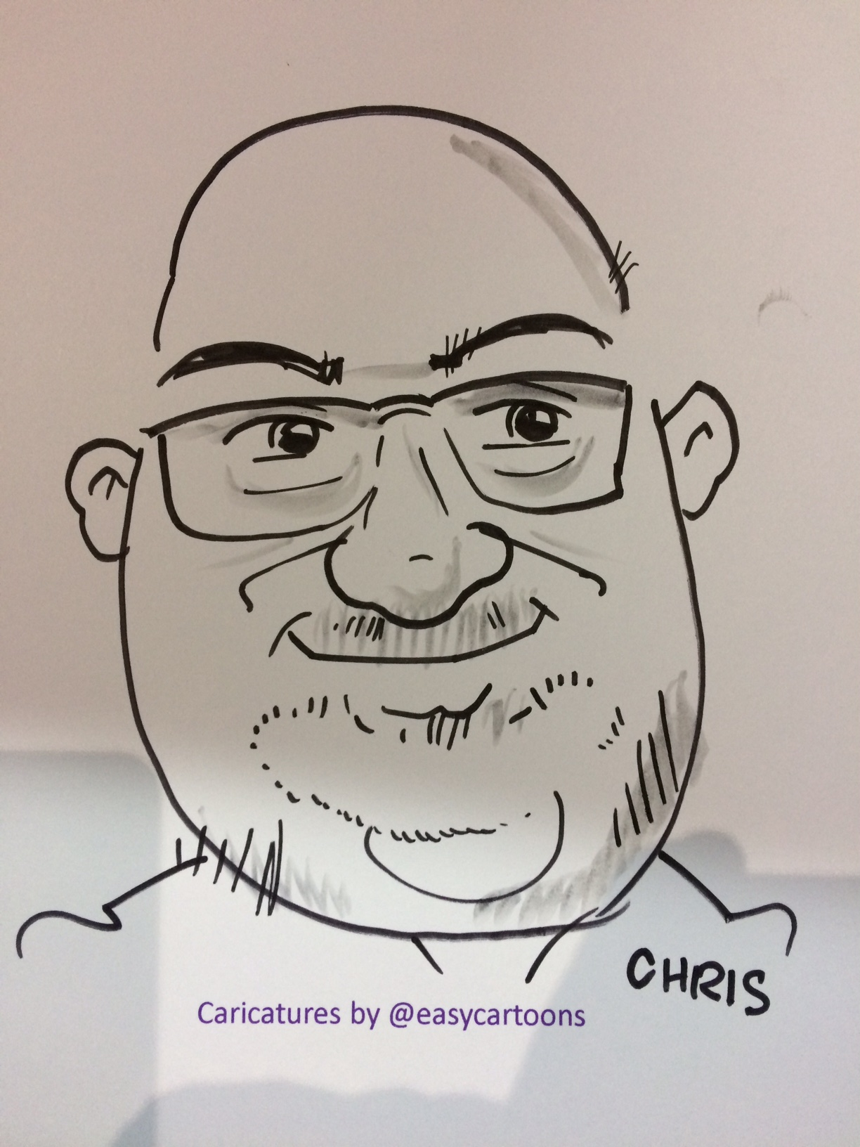 Caricature drawn at the event of Abfad's Chris