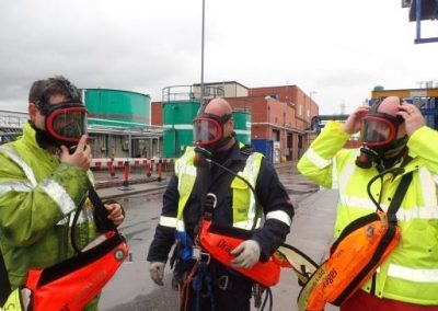 Testing of portable escape breathing sets for confined spaces