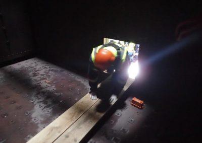 Rescue team horizontal entry