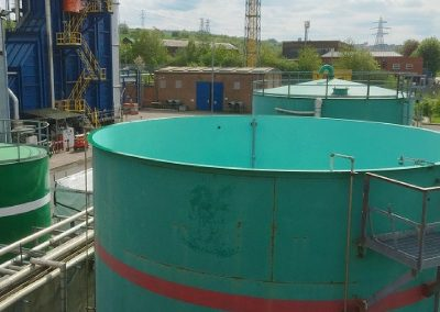 Power Station acid water process storage tank